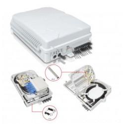 PLC სპლიტერები და სპლიტერის ყუთები - ოპტიკური სპლიტერის ყუთი 16 არხიანი, სამაგრით