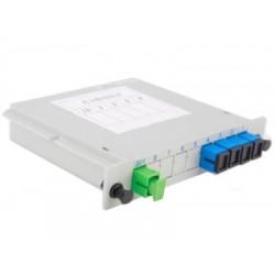 PLC სპლიტერები და სპლიტერის ყუთები - ოპტიკური სპლიტერი 1x4 SC