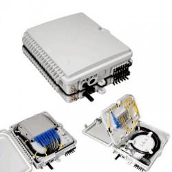 PLC სპლიტერები და სპლიტერის ყუთები - ოპტიკური სპლიტერის ყუთი 8 არხიანი, სამაგრით