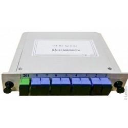 PLC სპლიტერები და სპლიტერის ყუთები - ოპტიკური სპლიტერი 1x8 SC